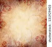 Stock photo vintage background with roses 131929403