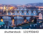 Prague At Twilight  View Of...