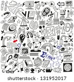 science   doodles collection   Shutterstock .eps vector #131952017
