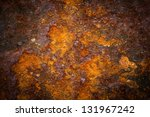 Oxidized metal surface making an abstract texture, high resolution. - stock photo