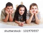 three bosom friends having fun... | Shutterstock . vector #131970557
