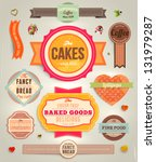 set of retro bakery labels ... | Shutterstock .eps vector #131979287