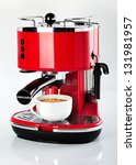 A Red Vintage Looking Espresso...