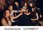 group of friends at the bar... | Shutterstock . vector #131988527