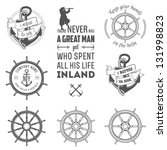 set of vintage nautical labels  ... | Shutterstock .eps vector #131998823