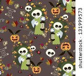 halloween background seamless | Shutterstock .eps vector #131999573