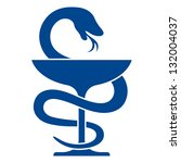 pharmacy icon with caduceus... | Shutterstock .eps vector #132004037