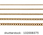 Chains of different sizes on a white background - stock photo