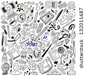 art doodles   vector | Shutterstock .eps vector #132011687