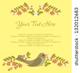 greeting card design. vector... | Shutterstock .eps vector #132012683