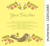 greeting card design. vector... | Shutterstock .eps vector #132012683