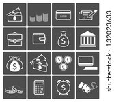money icons  banknotes coins... | Shutterstock . vector #132023633