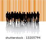 illustration of business people | Shutterstock .eps vector #13205794