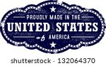Made in the United States USA - stock vector