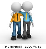 3d people   men  person... | Shutterstock . vector #132074753