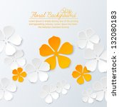 paper floral background with... | Shutterstock .eps vector #132080183