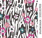 seamless grunge flower vector... | Shutterstock .eps vector #132131903