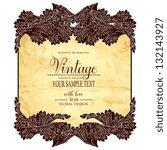 vintage floral printable... | Shutterstock .eps vector #132143927