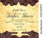 vintage floral printable... | Shutterstock .eps vector #132143957