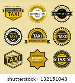 taxi insignia   vintage style ... | Shutterstock .eps vector #132151043