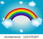 cloud  sun  rainbow vector...