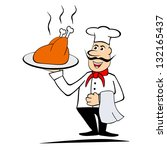 illustration of smiling chef... | Shutterstock . vector #132165437