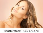 bright picture of lovely woman... | Shutterstock . vector #132173573