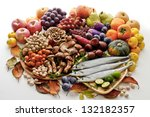ingredients of autumn | Shutterstock . vector #132182357
