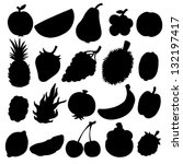 set black silhouette various... | Shutterstock .eps vector #132197417