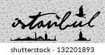 istanbul city retro vector art | Shutterstock .eps vector #132201893