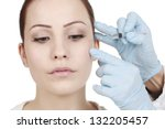 facial treatment with botulinum ... | Shutterstock . vector #132205457