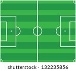 Soccer pitch vector design - stock vector
