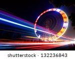 Night  A Rotating Ferris Wheel.