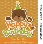 happy birthday card design. vector illustration - stock vector