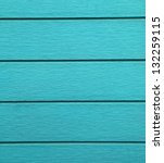 Blue painted wood wall as background. - stock photo