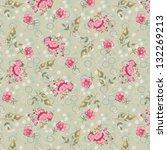 vintage floral seamless pattern ...   Shutterstock .eps vector #132269213