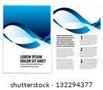 vector business brochure  flyer ... | Shutterstock .eps vector #132294377