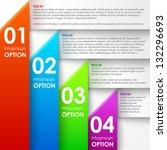paper infographics options... | Shutterstock .eps vector #132296693