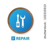 repair sign vector   Shutterstock .eps vector #132310313
