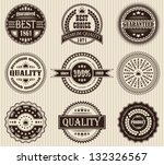 vector set of retro labels | Shutterstock . vector #132326567