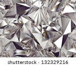 3d abstract crystal clear background texture - stock photo