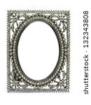 Ancient picture frame made odf jewel and silver - stock photo