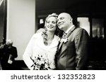 portrait of a couple  husband... | Shutterstock . vector #132352823