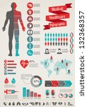 Medical, health and healthcare icons and data elements, infographic   Shutterstock vector #132368357