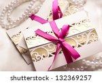 handmade wedding invitations... | Shutterstock . vector #132369257