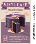 vinyl cafe poster | Shutterstock .eps vector #132371123