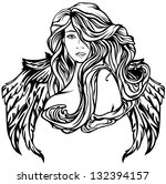 raster   art nouveau style... | Shutterstock . vector #132394157