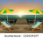 illustration of the beach... | Shutterstock .eps vector #132429257