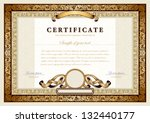 vintage certificate with gold ... | Shutterstock .eps vector #132440177