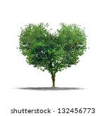 Heart Shape Tree Over A White...